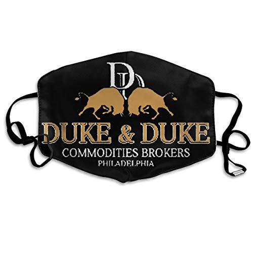Puriver Trading Places Duke and Duke (1) Half Face Dust Masks-Washable and Reusable Comfy Breathable Safety Air Fog Respirator White