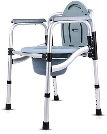 腕付きポータブル医療ベッドサイドコモデトイレチェア, 高さ調節可能な折りたたみシャワーチェア, 大人のハンディキャップ、高齢者、妊婦用
