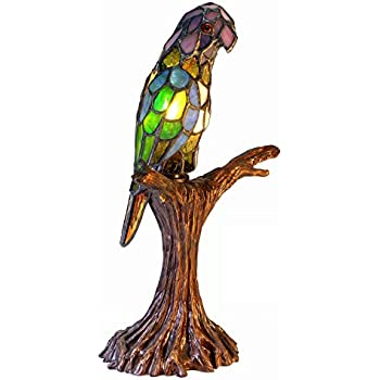 Tiffany Style Exotic Birds Accent Lamp Table Lamps