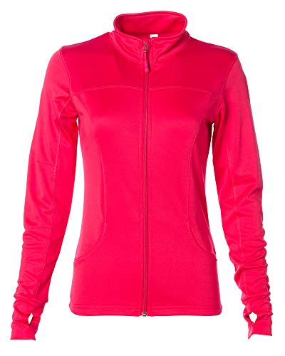 - Global Yoga Jacket Women Lightweight Workout Sports Leisure Coat X-Small Coral