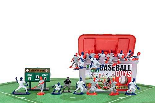 Kaskey Kids Baseball Guys - Red/Blue Inspires Kids Imaginations with Endless Hours of Creative, Open-Ended Play - Includes 2 Teams & accessories - 27 pieces in every set!