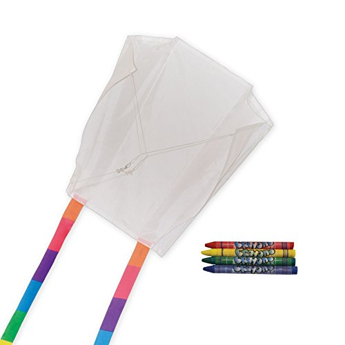 - In the Breeze Coloring Sled 18 Inch Kite - 50 Piece Party Pack -Single Line Kite-Includes Crayons,Kite Line and Bag-Creative Fun for Kids and Adults