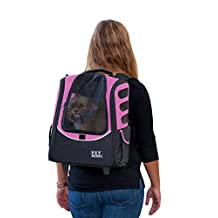 Pet Gear I-Go2 Escort Roller Backpack for Cats and Dogs up to 15-Pounds, Pink