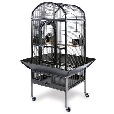 Prevue Pet Products Small Dometop Bird Cage 3161BLK, Black Hammertone