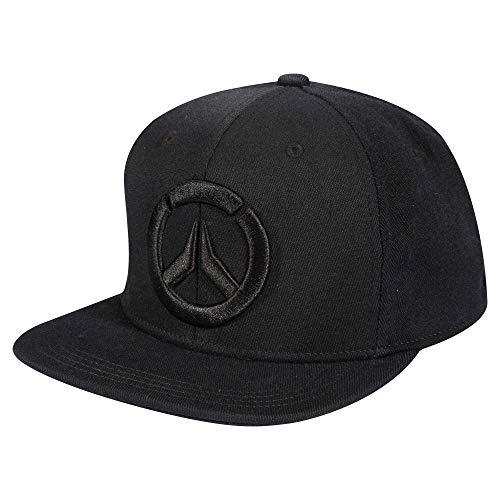 JINX Overwatch Blackout Stretch-Fit Baseball Hat, Black, One Size