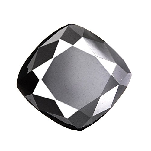 Skyjewels Cushion Cut 2.20 Ct Certified Black Diamond Solitaire Earth Mined by skyjewels