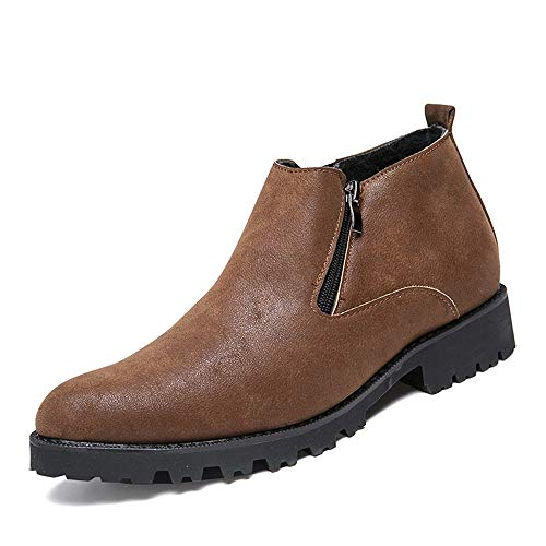 Marron 44 EU Bottines contractées pour hommes, chaussures de loisirs classiques, décontractées, de haute qualité et à la mode, style britannique, avec doubleure en molleton (Chaussures classiques) ,2018 Chaussures