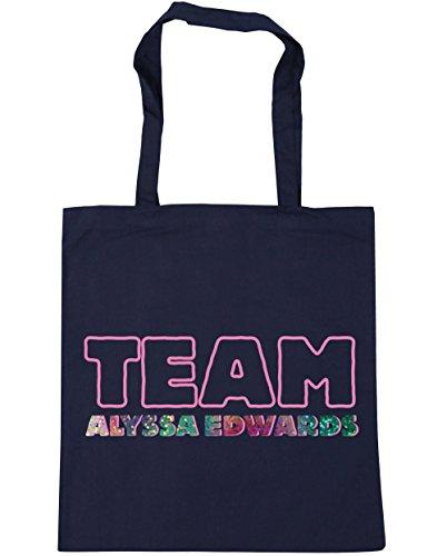 HippoWarehouse equipo Alyssa Edwards Tote Compras Bolsa de playa 42cm x38cm, 10litros azul marino