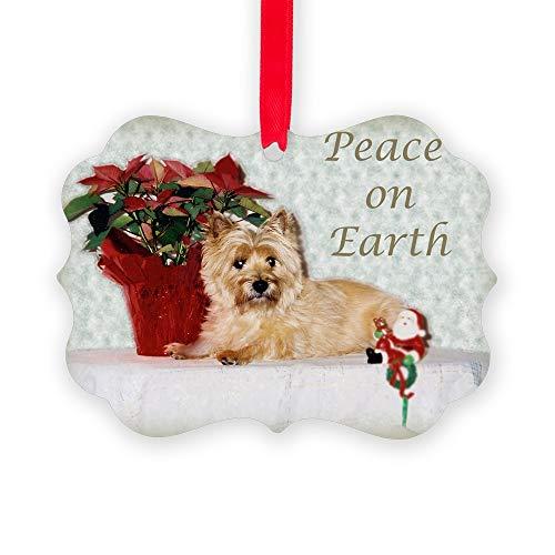 CafePress Peaceful Cairn Terrier Christmas Ornament, Decorative Tree Ornament