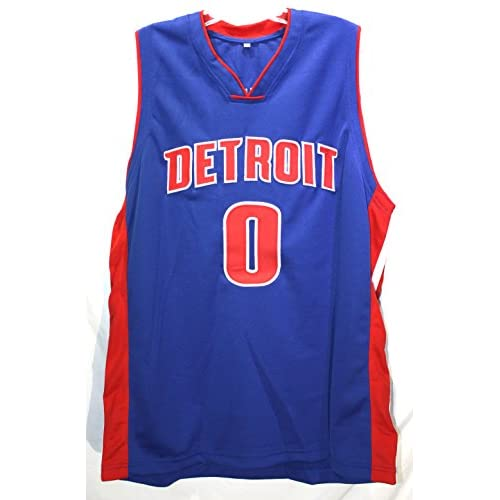 34f6873950e5 ... Andre Drummond Detroit Pistons Signed Autographed Blue 0 Jersey COA  durable modeling ...