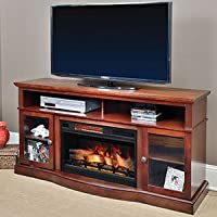 Walker Cherry Electric Fireplace Enterta...