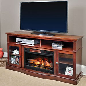 Walker Cherry Electric Fireplace Entertainment Center – 25MM5326-C245