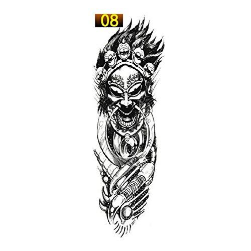 liekikas 1PCS Full Arm Flower Tattoo Sticker Waterproof Temporary Tattoo Sleeve Men Women Body Paint Water Transfer Fake Tatoo Sleeve