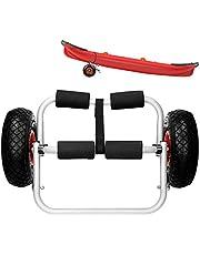 ECD Germany Universell vagga kajak släpvagn transport vagn kanot båttransportör SUP surfbräda vagn – vikbar – aluminiumram – 25 cm luftgummidäck – max. 60 kg – inkl. spännremmar