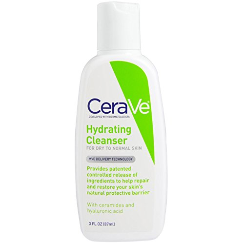 CeraVe, Hydrating Cleanser, For Dry to Normal Skin, 3 fl oz (87 ml) - 2pc
