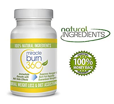 Miracle Burn 360 Natural Weight Loss Supplement Pills - Green Tea Extract Supplement - Natural Appetite Suppressant & Weight Loss Pills - Lose Weight or 100% Money Back Guaranteed - Order Risk Free!