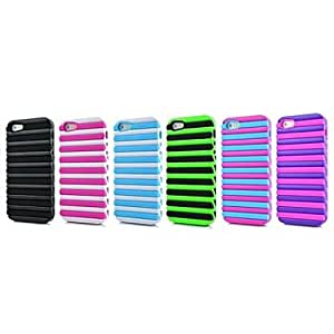 DD 2in1 Double Color Pattern TPU Case for iPhone 5/5S (Assorted Colors) , 5#