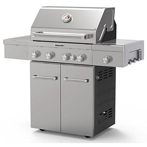 Stainless Steel Gas Grill 4-Burner Propane Free-Standing Car