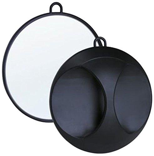 Efalock Spiegel Kunststoff, schwarz, 1er Pack 4025341491580