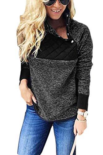 Adelina Aucun Vêtements Sweatshirt Décontracté Schwarz Automne Chemises Hiver Haut Femmes Pulls Tissé Pullover rrvYxqO