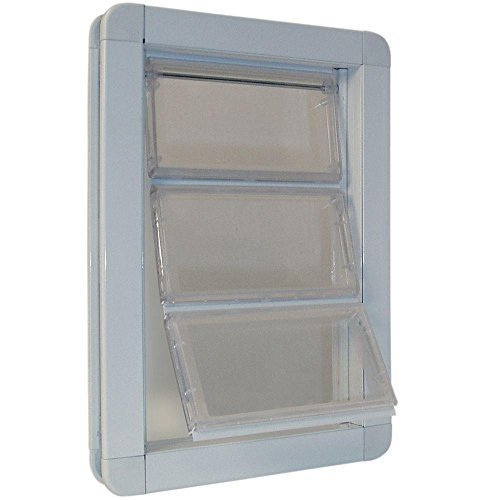 10.25 in. x 15.75 in. Extra Large Premium Draft Stopper Aluminum Frame Door with Flexible Hard Flap by Ideal Pet