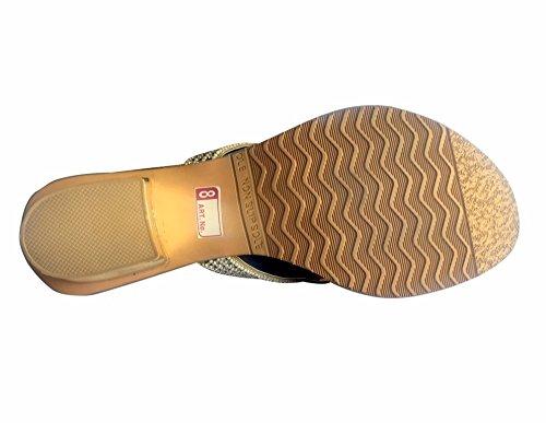 Step n Style - Sandalias de vestir de Material Sintético para mujer Dorado dorado Dorado - dorado