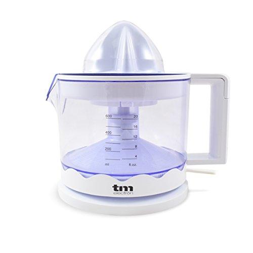 TM Electron tmpex002–Presse agrumes électrique avec régulateur de pulpe et nettoyage facile, 30W, couleur blanc