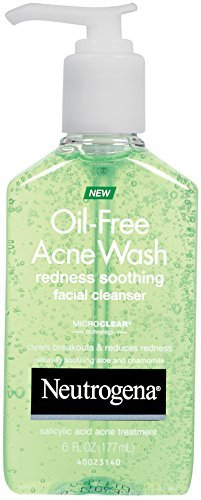Neutrogena Oil-Free Acne Wash Redness Soothing Facial Cleanser, 6 Fluid Ounce - Buy Packs and SAVE (Pack of 2)