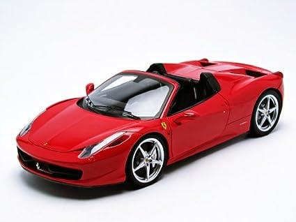 Marvelous #W1177 Hot Wheels Elite Ferrari 458 Spider,Red 1/18 Scale Diecast Vehicle