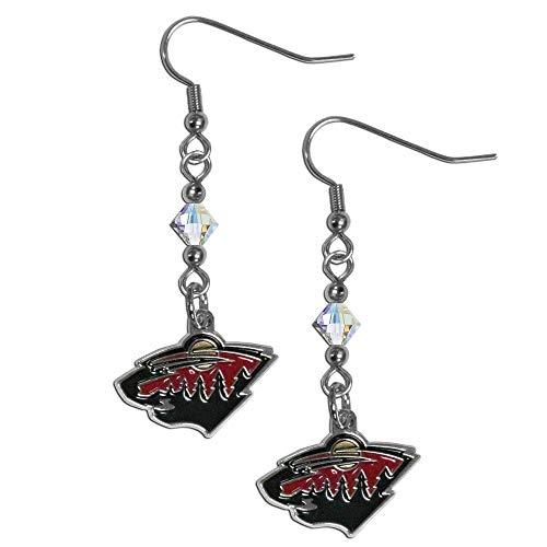NHL Minnesota Wild Crystal Dangle Earrings