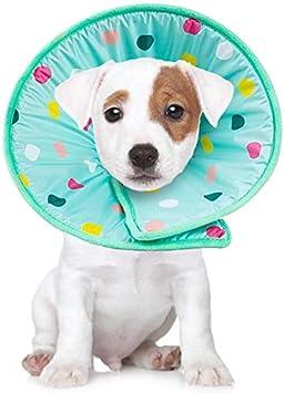 Smandy Recuperación Mascota Cono Mascota Gato Perro Esponja Suave Cono Collar Protector Ajustable Anti mordida Lick Herida Cuello de Seguridad Cuello de Seguridad para Perro Cat(L)