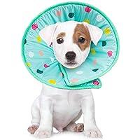 Hundkonshalsband mjuk bekväm justerbar husdjur E-krage återhämtning krage Elizabetanska halsband skyddshalsband för…