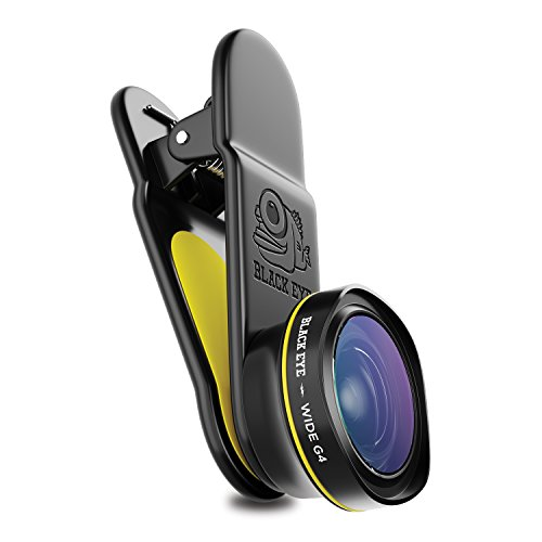 Black Eye - Wide G4 Clip-on Lens Compatible with All iPhone, iPad, Samsung Galaxy, and Other Cell Phones