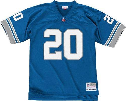 Barry Sanders Detroit Lions Light Blue Throwback Jersey X-Large