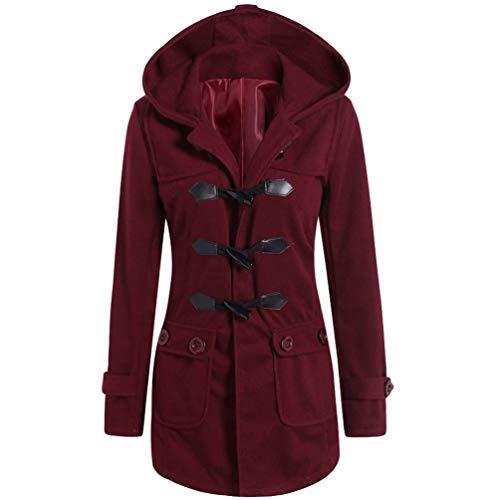Rouge Duffel Capuche Chaud Coat Manteau Automne Outwear Hoodie BdxSq7