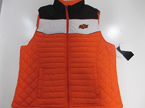 Embroidered Womens Quilted Vest - G-III Sports Oklahoma State Cowboys Womens Small Full Zip Embroidered Quilted Vest AOKS 11 S