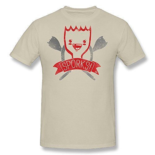 Ramalhorich Mens SPORKS! T Shirt Natural