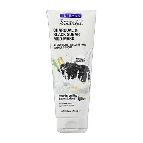 Freeman Charcoal & Black Sugar Mud Mask,6 Ounce