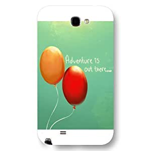 UniqueBox Customized Disney Series Phone HTC One M7 , Lovely Cartoon Adventure Is Out There UP Painted HTC One M7, Only Fit HTC One M7 (White Frosted Shell)