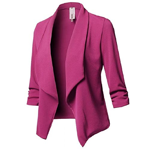 Solid RkBaoye Pleated Women's Down Open Long Red Sleeve Collar Rose Front Outdoor Turn Coats ZqaFf