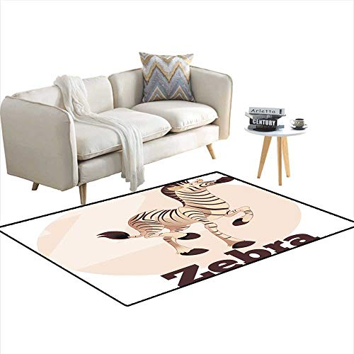 Kids Carpet Playmat Rug ABC Cartoon Zebra - Zebra Bobs Shoe