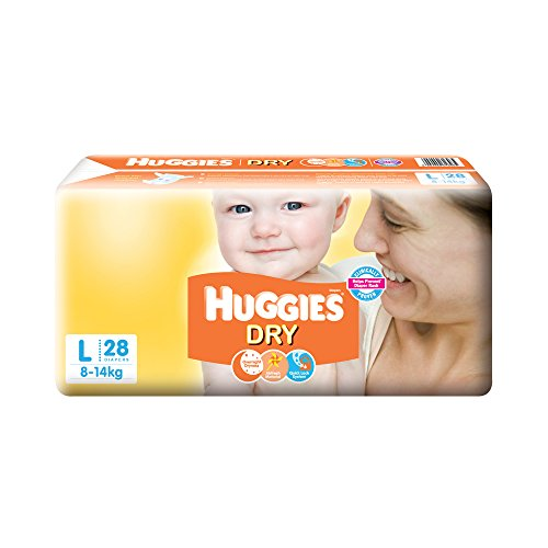 Huggies New Dry Large Size Diapers (28 Counts)