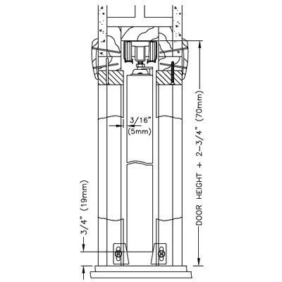 100PD Commercial Grade Pocket / Sliding Door Hardware (72'') by Johnson Hardware (Image #8)