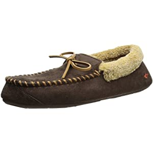 Dockers Men's Ryan Aviator Moccasin with Warm Plush-Sherpa Style Collar
