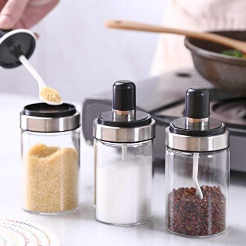 FAERIE Kitchen Supplies Glass Seasoning Bottle Salt Storage