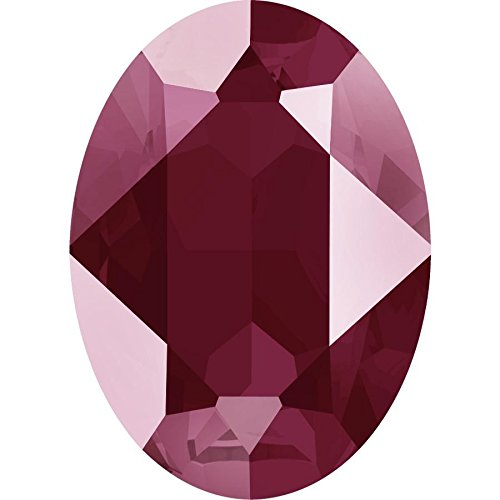 4120 Swarovski Fancy Stones Oval Lacquer Colours | Crystal Dark Red | 18x13mm - Pack of 1 | Small & Wholesale Packs | Free (Costume Jewelry Uk Wholesale)