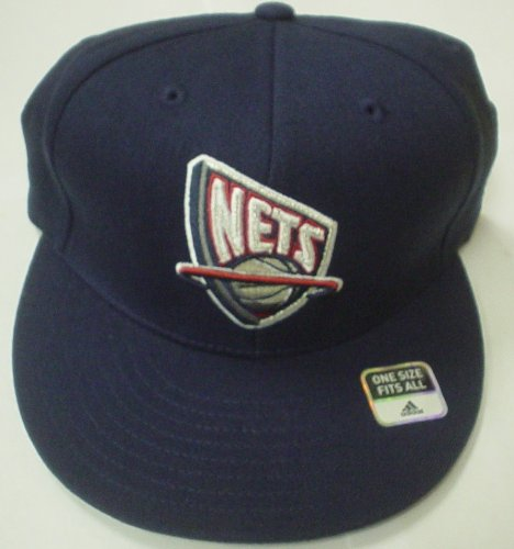 New Jersey Nets Flat Bill Flex Osfa Adidas Hat