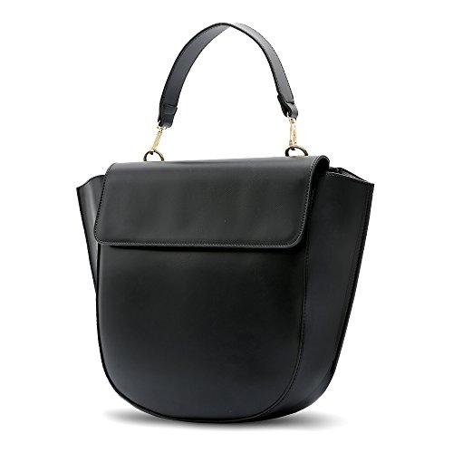 di casuale Messenger di Tote a stile a retro Nero zainetto nuovo donne borse borse spalla borse spalla imbettuy mano sacchetto donne borsa borsa modo a borse 0qETz