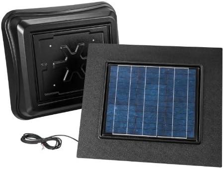 Broan 345RSOBK Remote Mount Solar Powered Attic Ventilator, 28-Watt, Black