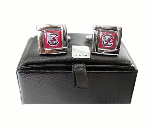 NCAA South Carolina Gamecocks Square Cufflinks Gift Box Set-By BlueTECH
